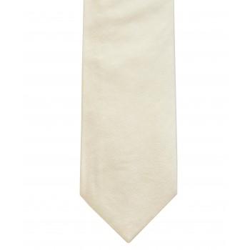 Ecru Shantung Silk Tie ((S5016/3))