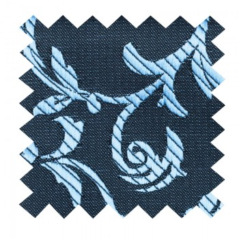 Morning Blue on Black Swirl Leaf Swatch #AB-SWA1000/17