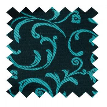 Teal on Black Swirl Leaf Swatch #AB-SWA1000/2