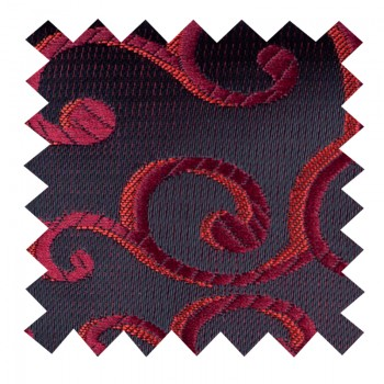 Wine on Black Royal Swirl Swatch #AB-SWA1001/10