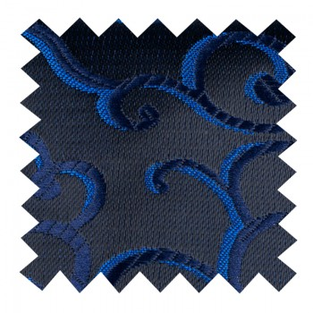 Navy on Black Royal Swirl Swatch #AB-SWA1001/9