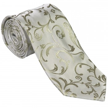 Emerald Green Swirl Leaf Wedding Tie #AB-T1000/12