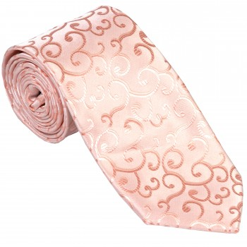 Peach Royal Swirl Wedding Tie #AB-T1001/2