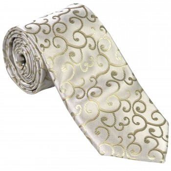 Sage Green Royal Swirl Wedding Tie #AB-T1001/4