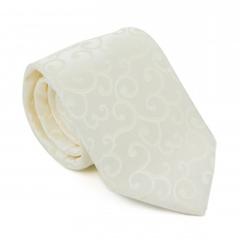 Cream Royal Swirl Tie #AB-T1001/7