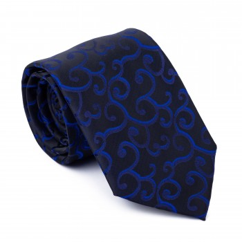 Navy on Black Royal Swirl Tie #AB-T1001/9