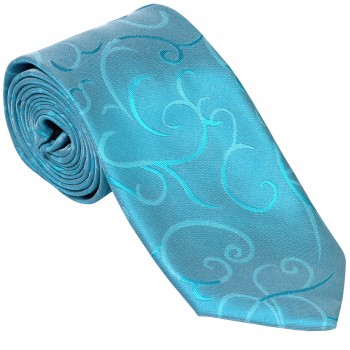 Turquoise Modern Scroll Wedding Tie #AB-T1002/2