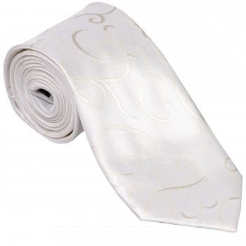 Ivory Modern Scroll Wedding Tie #AB-T1002/4