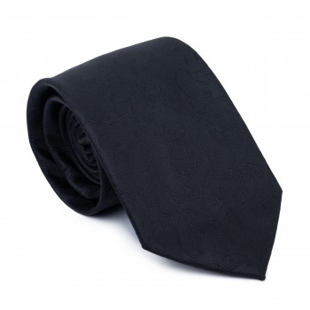 Black on Black Budding Paisley Tie #AB-T1003/4