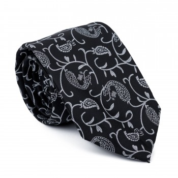 Moonlight Black Budding Paisley Tie #AB-T1003/5