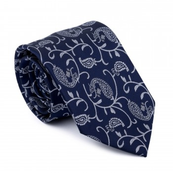 Moonlight Navy Budding Paisley Tie #AB-T1003/7