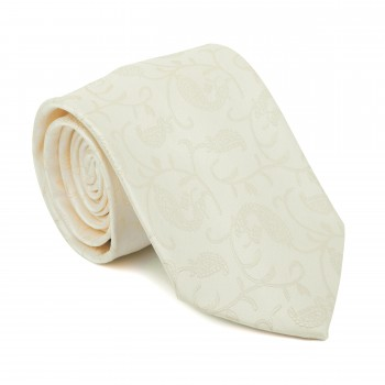 Cream Budding Paisley Tie #AB-T1003/9