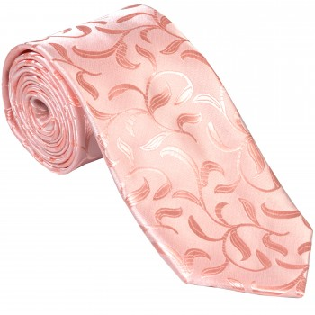Peach Vintage Vine Wedding Tie #AB-T1004/3
