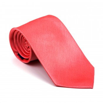 Burnt Coral Shantung Tie #AB-T1005/21