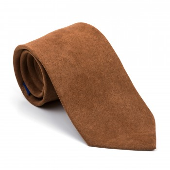 Caramel Brown Suede Tie #AB-T1006/12