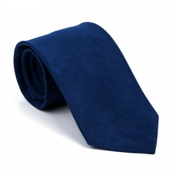 Darkest Blue Suede Tie #AB-T1006/14