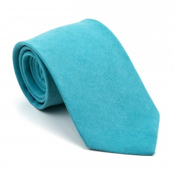 Duck Egg Blue Suede Tie #AB-T1006/9