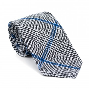 Licorice Black Check Tie #AB-T1007/1