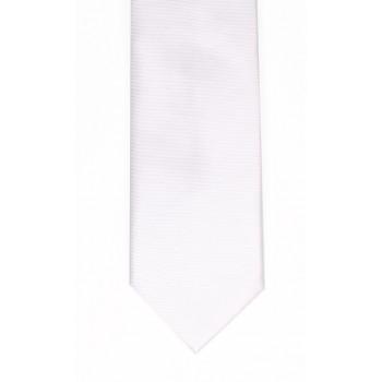 White Fine Twill Tie #T100/1