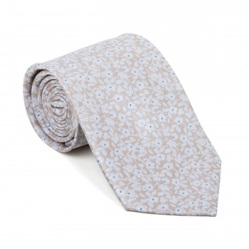 Beige Ditsy Floral Tie #AB-T1013/2
