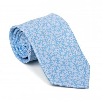 Sky Blue Ditsy Floral Tie