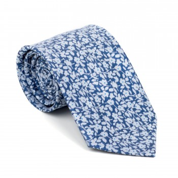 Navy Blue Ditsy Floral Tie