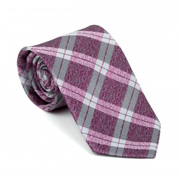 Burgundy Wide Check Tie