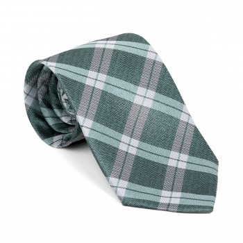 Moss Green Wide Check Tie
