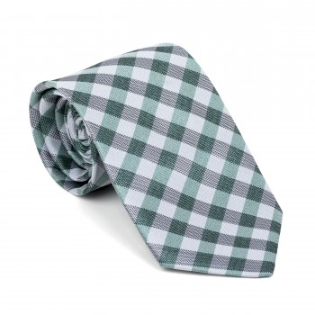 Moss Green Neat Check Tie