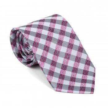 Burgundy Neat Check Tie