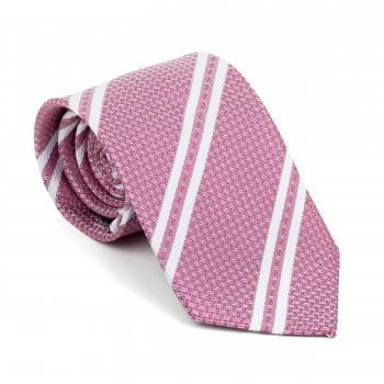 Dark Pink Pastel Stripe Tie