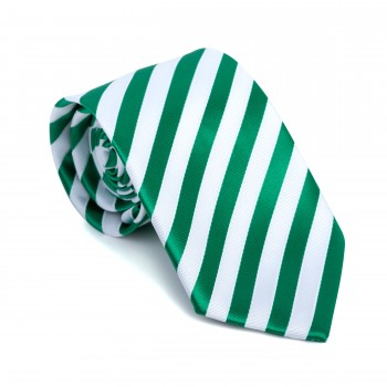 Green and White Stripe Football Tie #AB-T1019/5