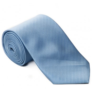 Light Blue Diagonal Weave Tie #T1834/4