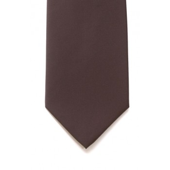 Brown Satin Tie #T1847/5