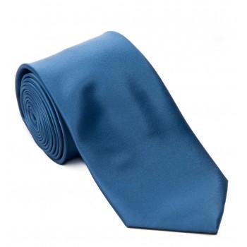 Blue Satin Tie #T1848/2