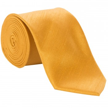 Gold Shantung Tie with Matching Pocket Hankie