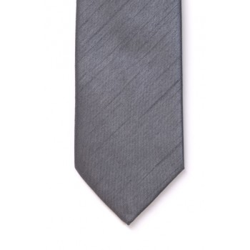 Grey Shantung Wedding Tie #T1865/1