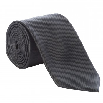 Charcoal Diagonal Weave Tie #T1870/2 ---DISCONTINUED, LAST STOCK!---