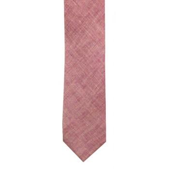 Dark Pink Chambray Tie #T1880/3