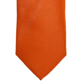 Orange Satin Tie #T1885/4