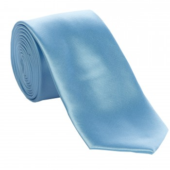 Baby Blue Slim Satin Tie #C1888/5