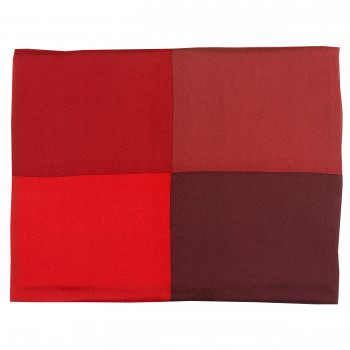 Red and Wine Silk Pocket Square #TPH03/2