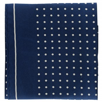 Navy with White Polka Dot Silk Pocket Square #TPH05/2