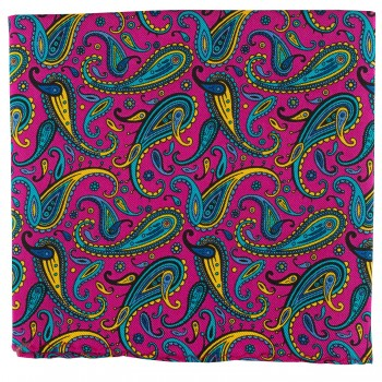 Pink Paisley Silk Pocket Square #TPH07/1 ---DISCONTINUED, LAST STOCK!---