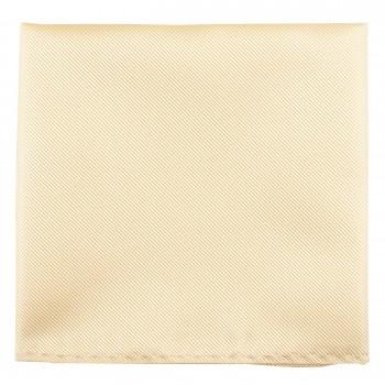 Ivory Twill Pocket Square #TPH100/3