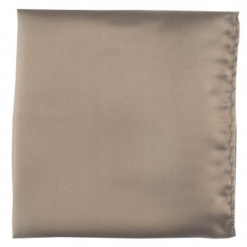 Mid Brown Twill Pocket Square #TPH100/4