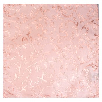 Peach Swirl Leaf Wedding Pocket Square #AB-TPH1000/7