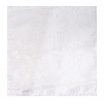 Ivory Modern Scroll Wedding Pocket Square #AB-TPH1002/4