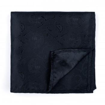 Black on Black Budding Paisley Pocket Square #AB-TPH1003/4