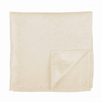 Cream Budding Paisley Pocket Square #AB-TPH1003/9